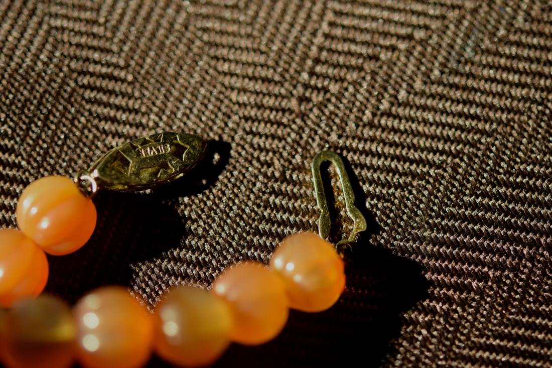 Chinese Agate Beads Necklace of Melon Shaped with Frog - 6