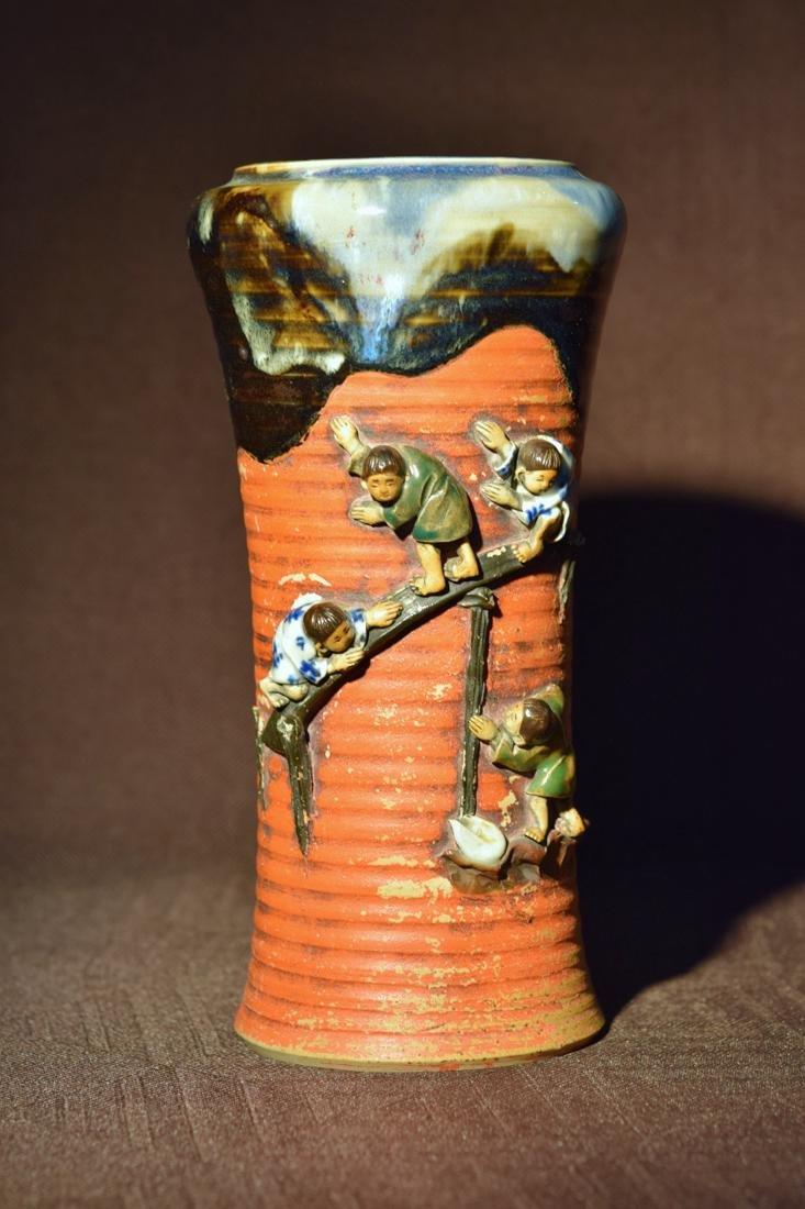 Japanese Sumidagawa Porcelain Vase