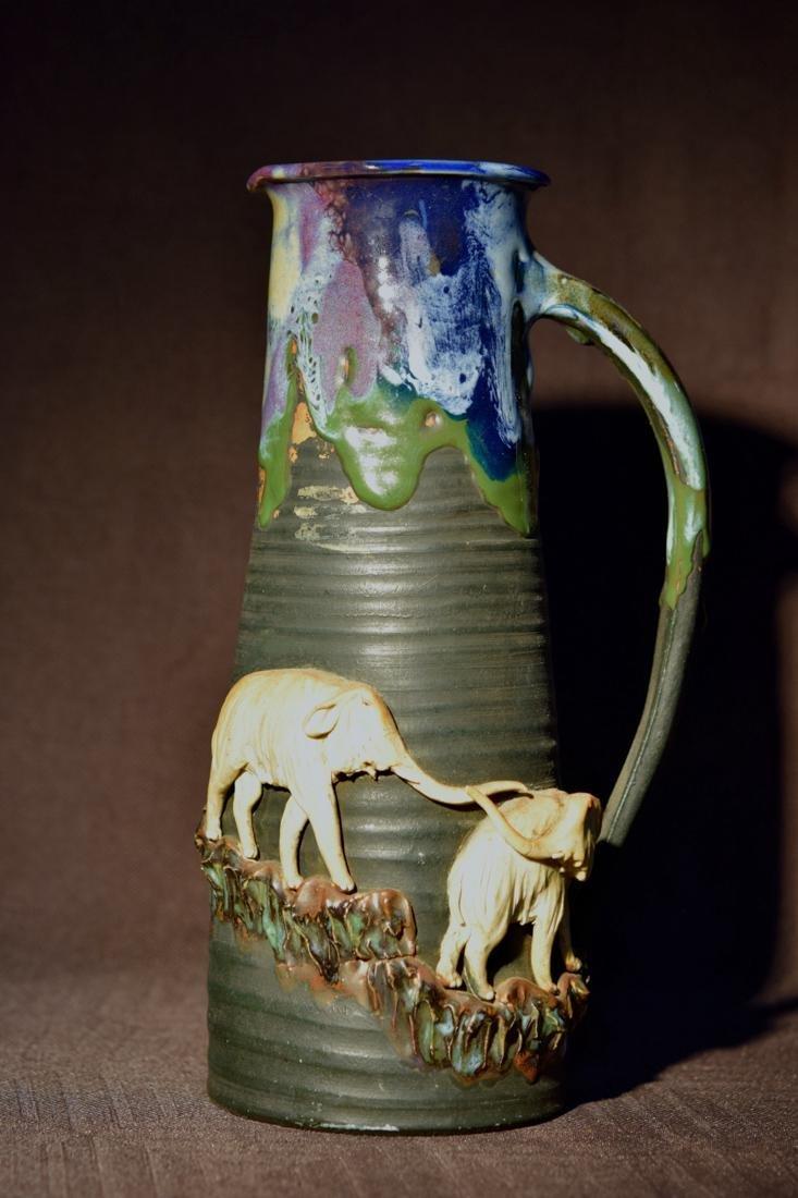 Japanese Sumidagawa Porcelain Pitcher