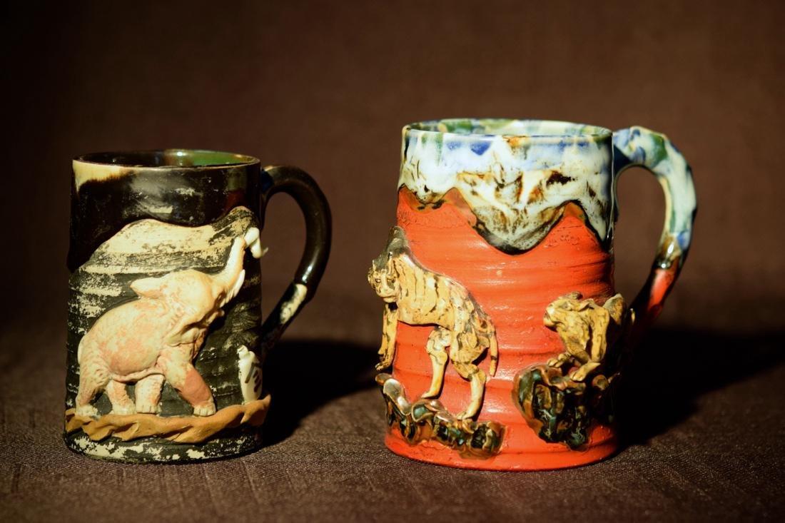 Japanese Sumidagawa Porcelain Mugs