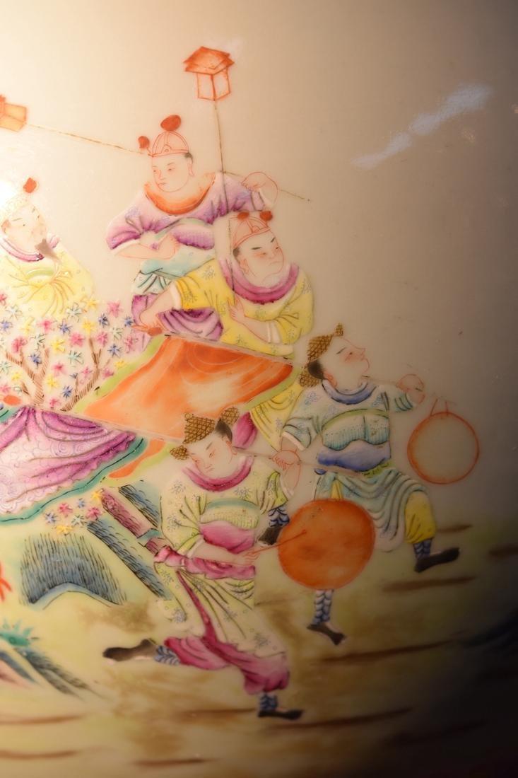 Large Chinese Famille Rose Porcelain Vase - 7