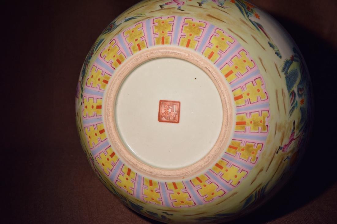 Large Chinese Famille Rose Porcelain Vase - 8