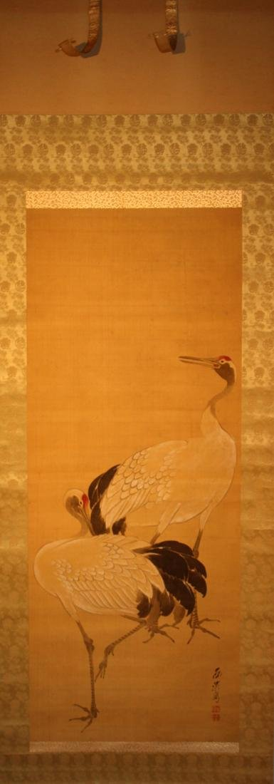 Chinese Scroll Painting of Crane - Wang Wei Zheng