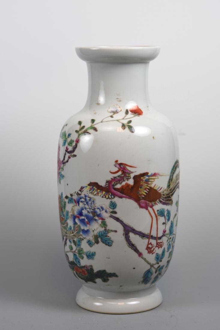 Chinese Famille Rose Porcelain Vase - Pheonix Peony