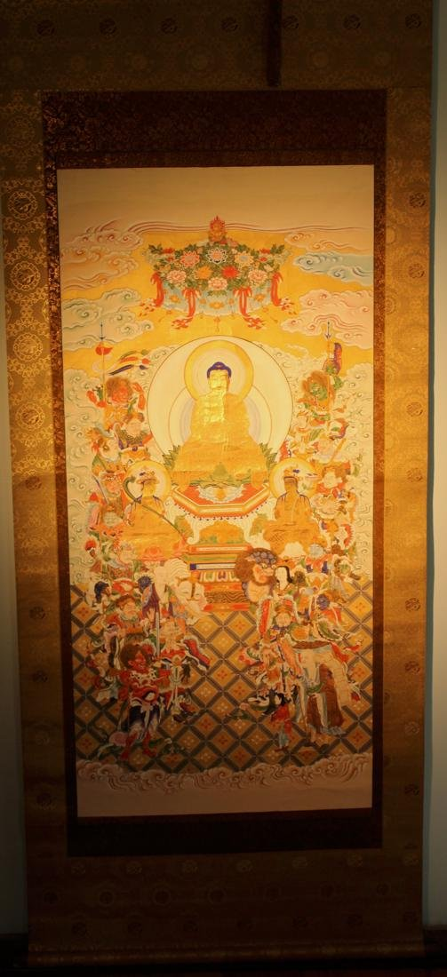 Japanese Buddhist Painting with Fancy Mounting