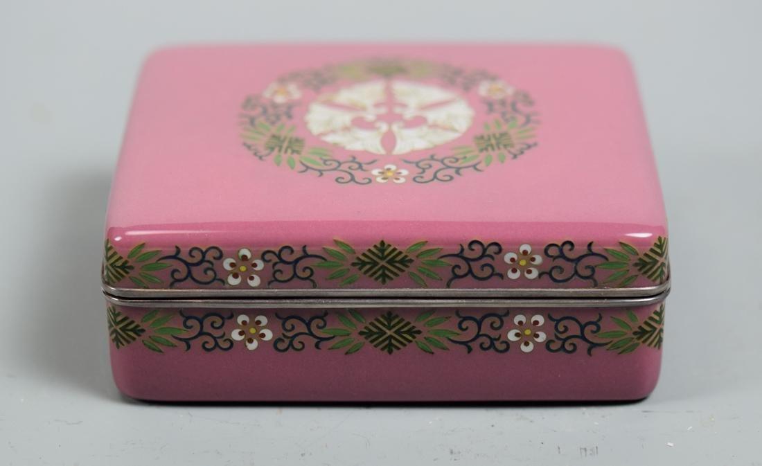 Japanese Cloisonne Box - signed