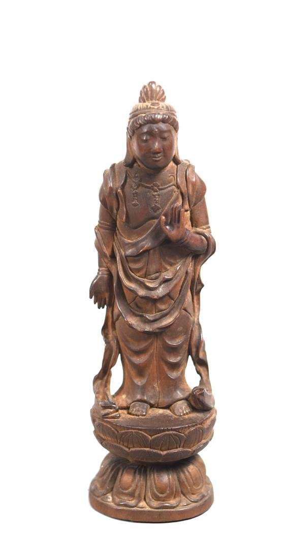 Chinese Boxwood Carving of Kuanyin