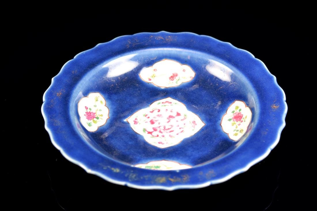 Chinese Colbalt Blue Porcelain Charger