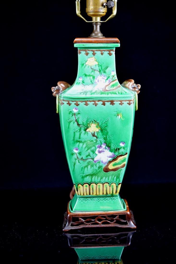Chinese Sancai Porcelain Vase lamp
