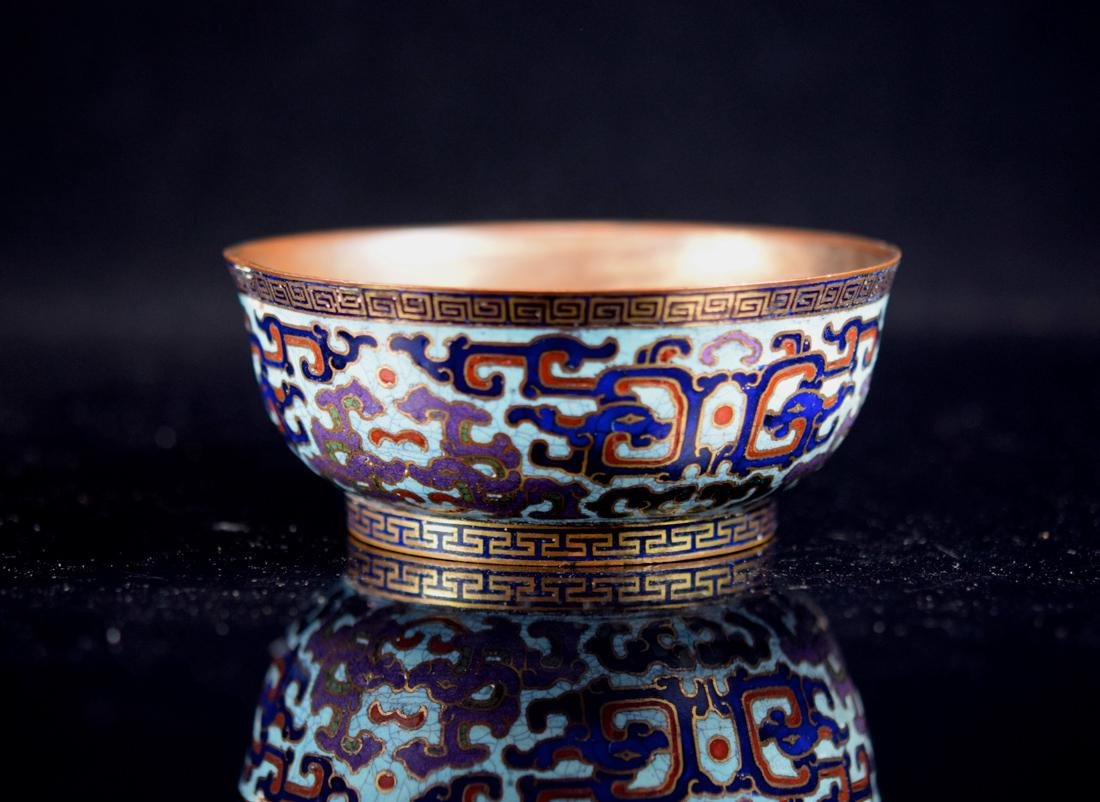 Chinese 18th cen Cloisonne Bowl