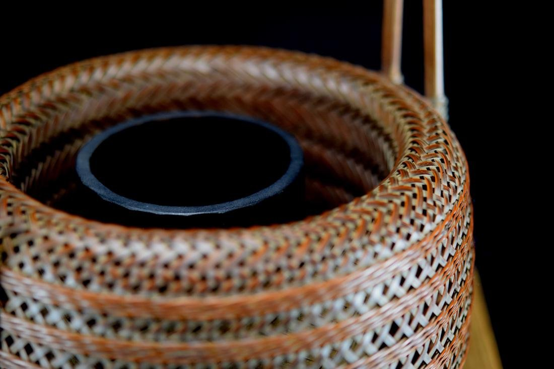 Japanese bamboo Basket in Fitted Box - Signed - 6