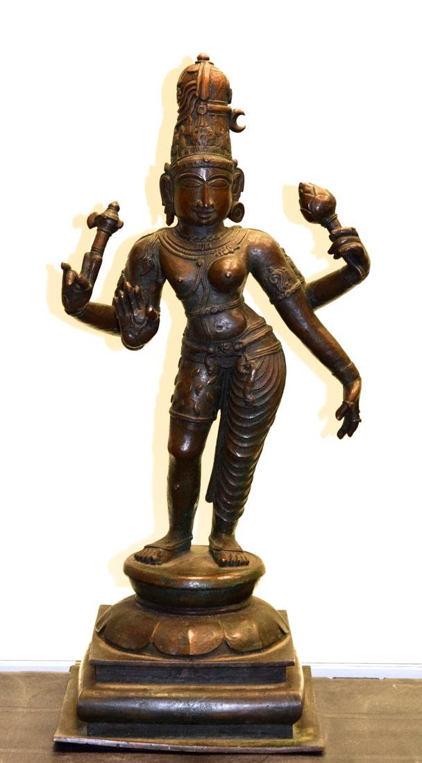 Antique Indian Bronze Statue of Shiva