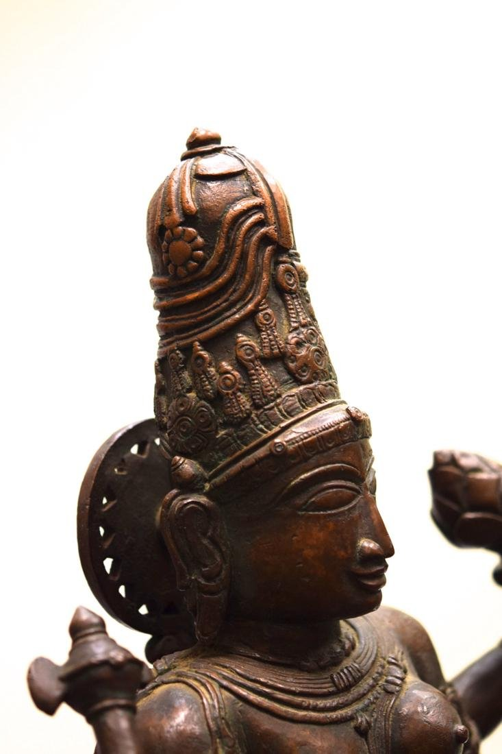 Antique Indian Bronze Statue of Shiva - 7