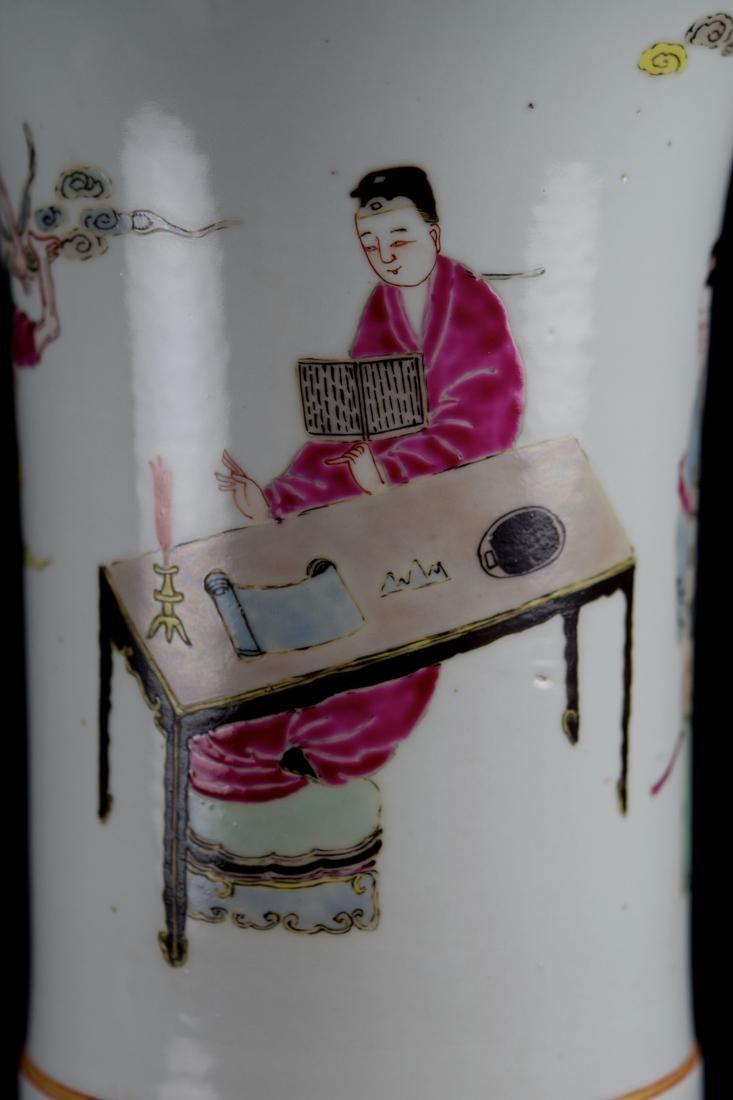Chinese Famill Rose Porcelain Beaker Vase - 2