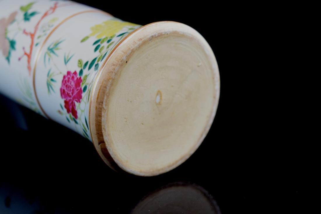 Chinese Famill Rose Porcelain Beaker Vase - 7