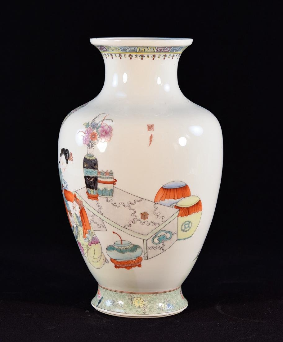 Chinese Famille Rose Porcelain Republic Vase with - 5