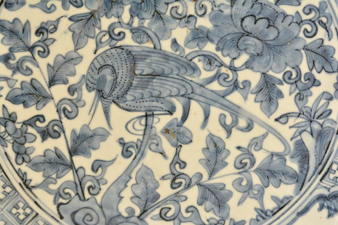 Chinese Ming Blue White Porcelain ChargerÊ - 2