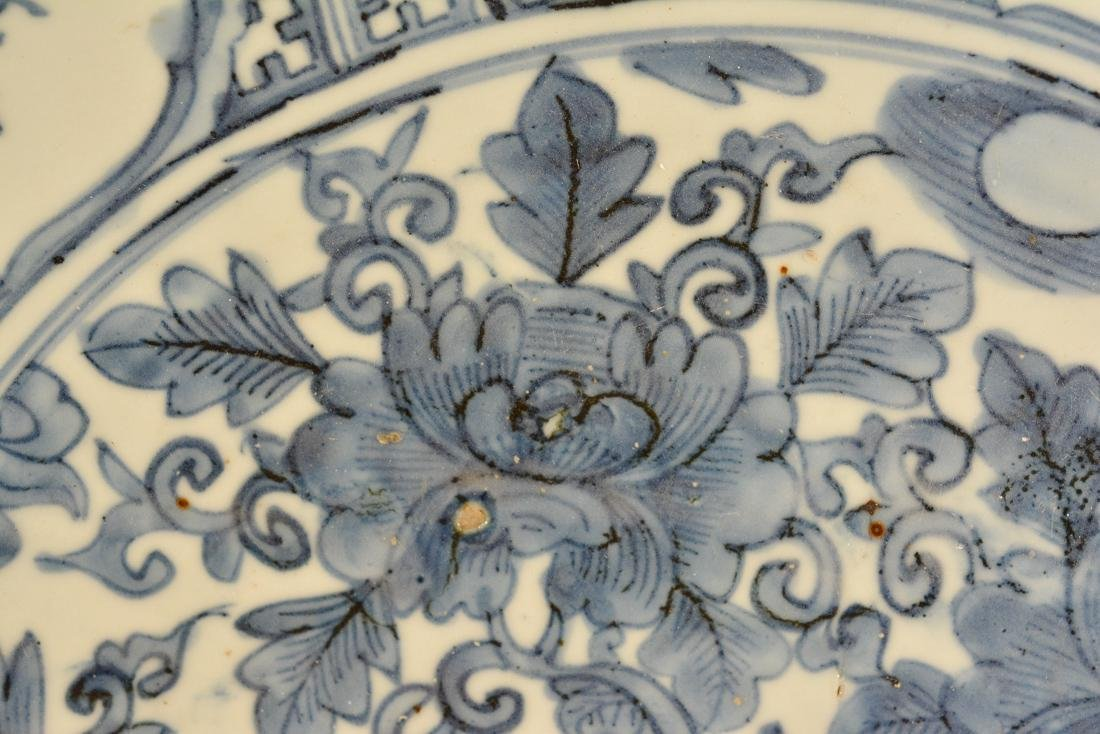 Chinese Ming Blue White Porcelain ChargerÊ - 3