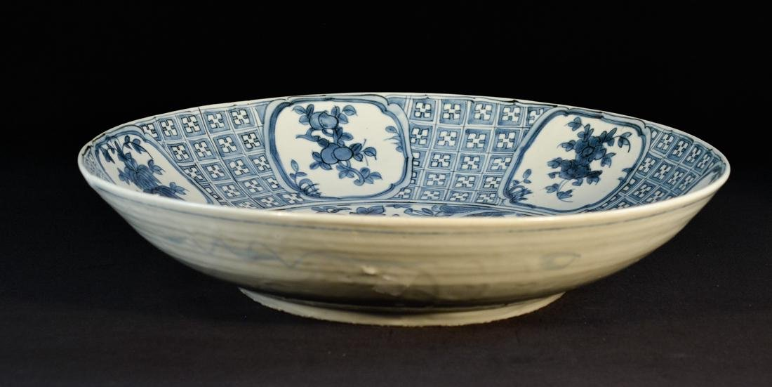 Chinese Ming Blue White Porcelain ChargerÊ - 9