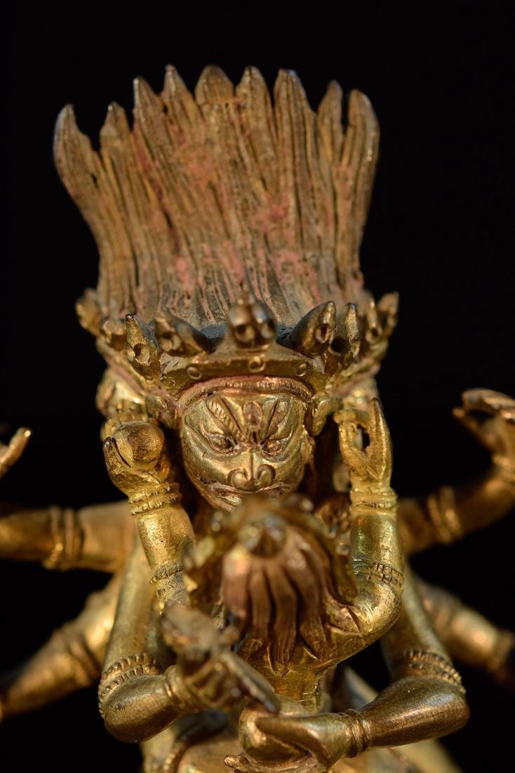 Sino Tibetan Gilt Bronze Yab Yum - 2