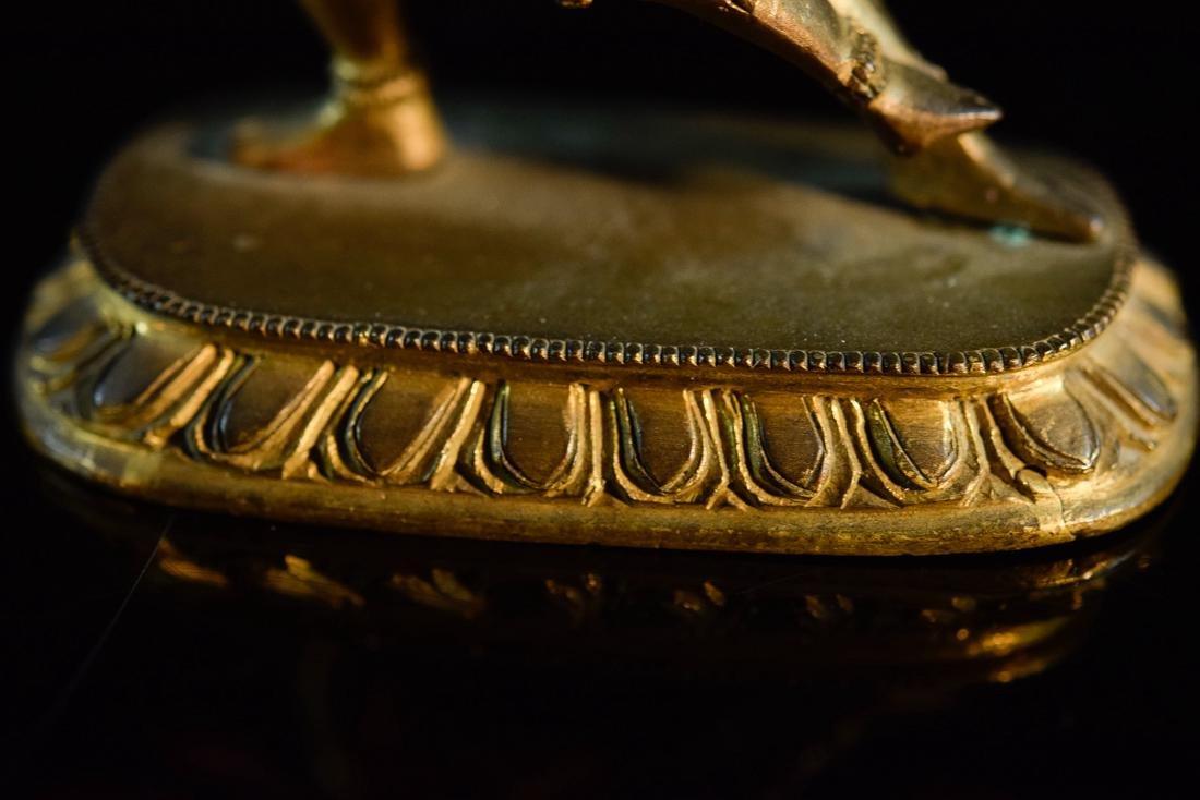 Sino Tibetan Gilt Bronze Yab Yum - 5