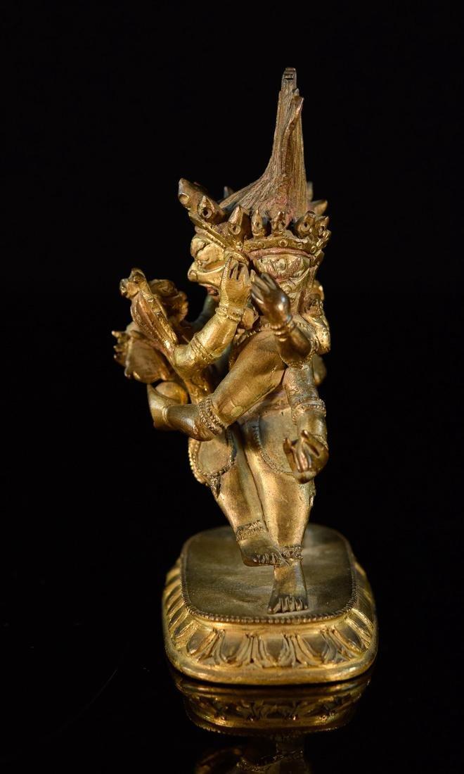 Sino Tibetan Gilt Bronze Yab Yum - 6