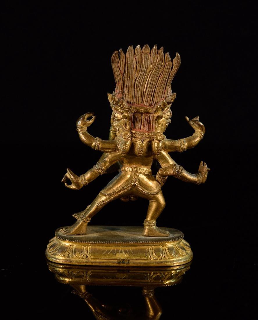 Sino Tibetan Gilt Bronze Yab Yum - 7