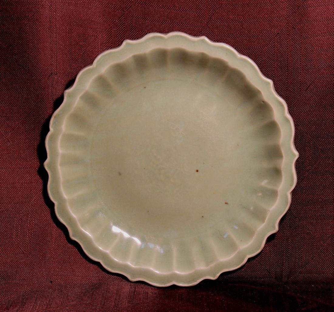 Chinese Ming Celadon Porcelain Dish