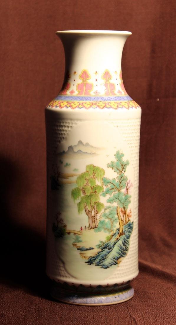 Chinese Porcelain Vase with Landscape Scene