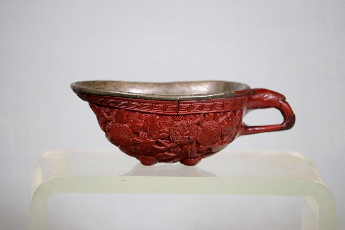 Chinese Ming Cinnabar Lacquer Cup