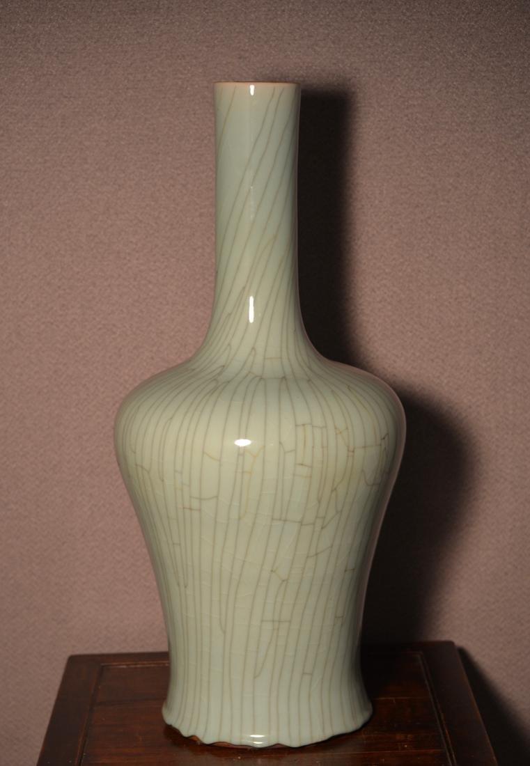 Chinese Celadon Crackle Glazed Porcelain Vase