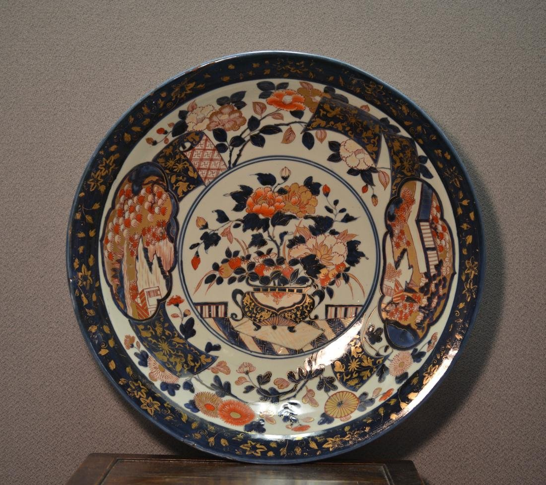 Large Chinese Porcelain Charger for the Japanese Imari