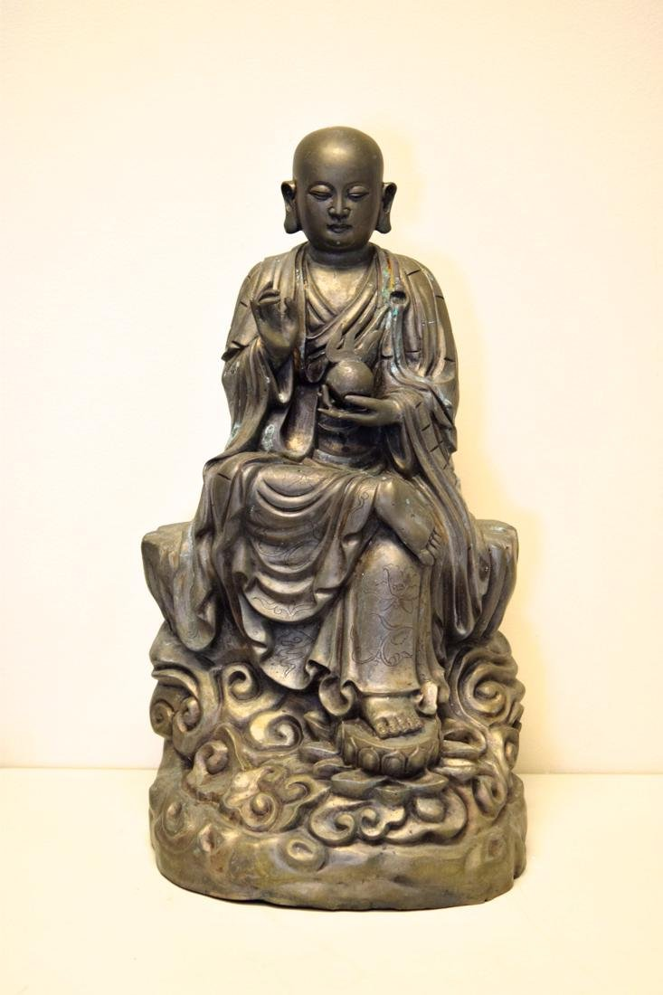 Japanese Bronze Seated Lohan