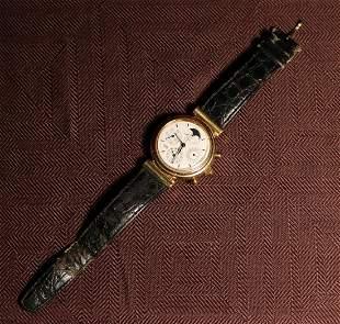 IWC 18k Yellow Gold Moonface Wrist Watch