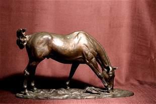 Japanese Bronze Horse - Tokyo School - Signed