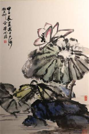 Chinese Water Color Painting by Zhu qizhan  朱屺瞻