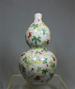 Chinese Famille Rose Double Gourd Vase - Albert