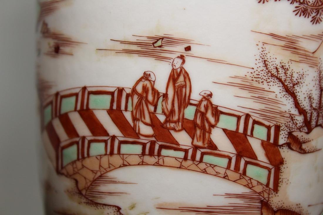 Chinese Roueat Vase with Scholar Landscape - Albert - 2