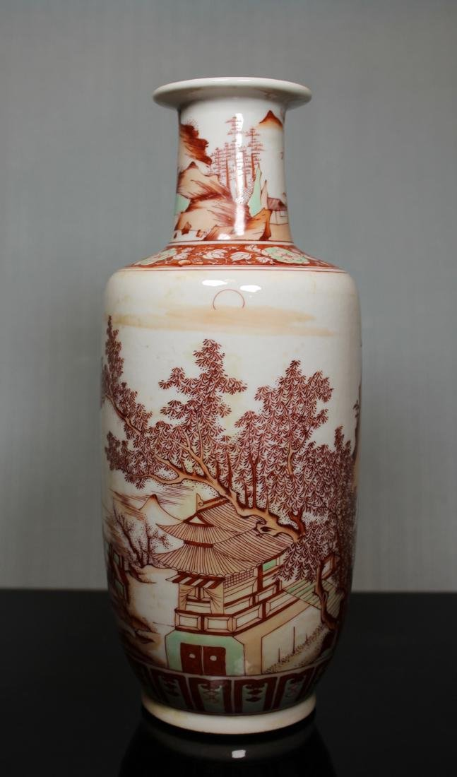 Chinese Roueat Vase with Scholar Landscape - Albert - 4