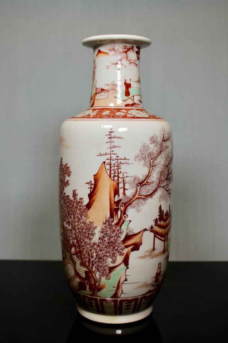 Chinese Roueat Vase with Scholar Landscape - Albert - 6