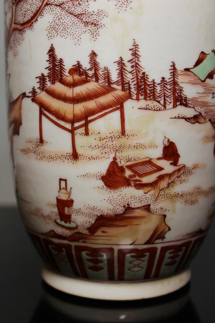 Chinese Roueat Vase with Scholar Landscape - Albert - 7