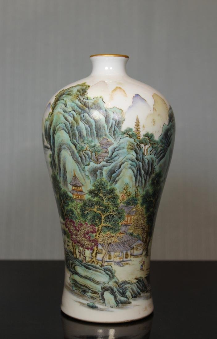 Chinese Landscape Meiping Vase - Albert Gallatin Estate