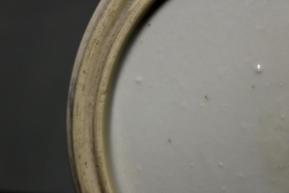 Chinese Wucai Porcelain Brushpot - Qing Court Officer - 8