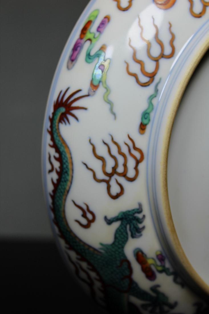 Chinese Doucai Porcelain Dragon Motif Dish - Albert - 7