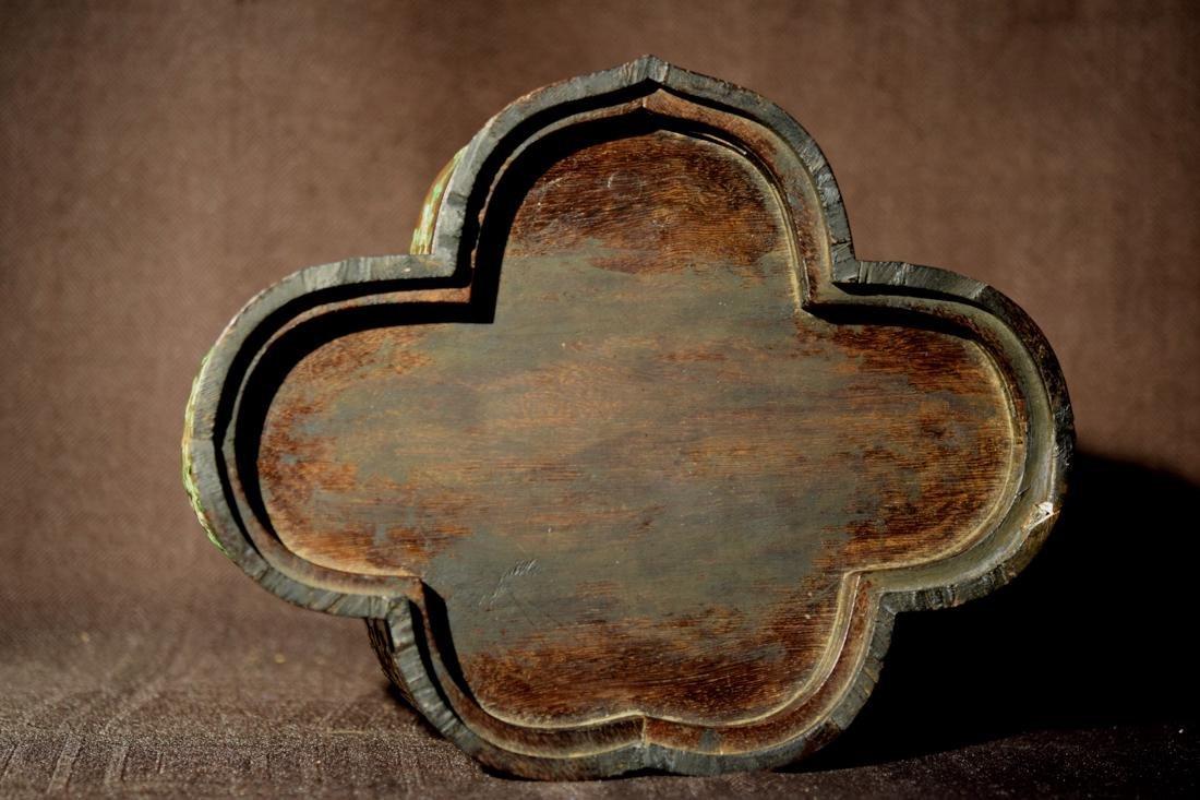 Chinese Jiche Wood Box with Soapstone Inlay - 9