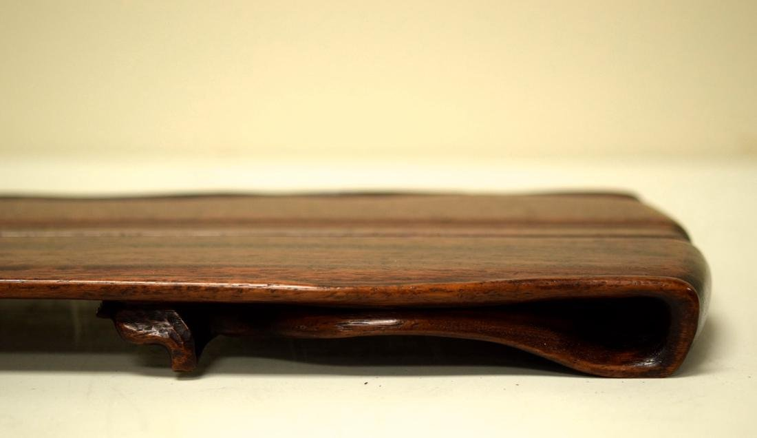 Chinese Rosewood Leaf Shaped Tea Tray - 3