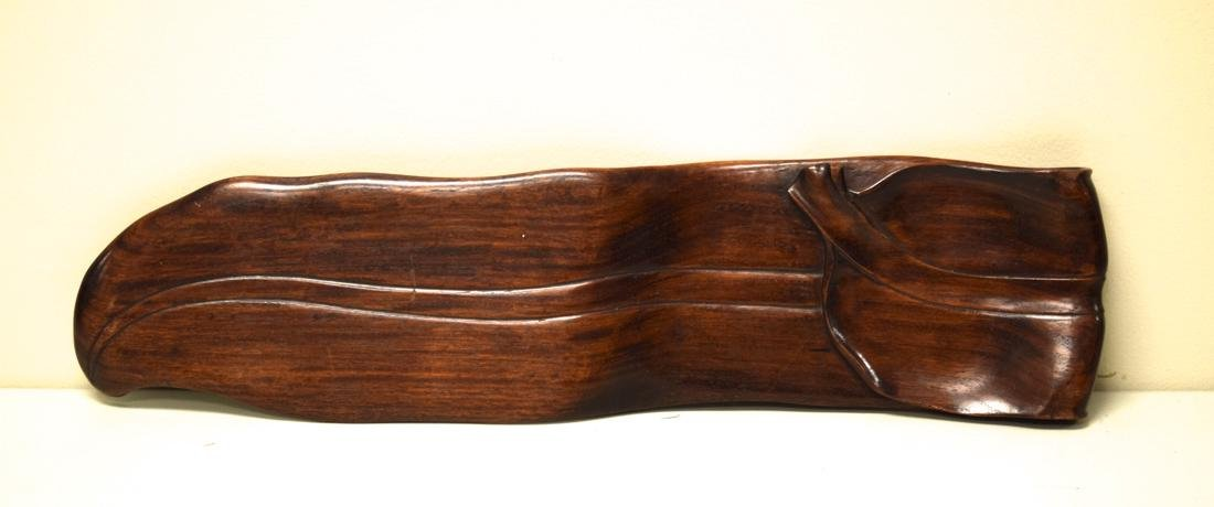 Chinese Rosewood Leaf Shaped Tea Tray - 4
