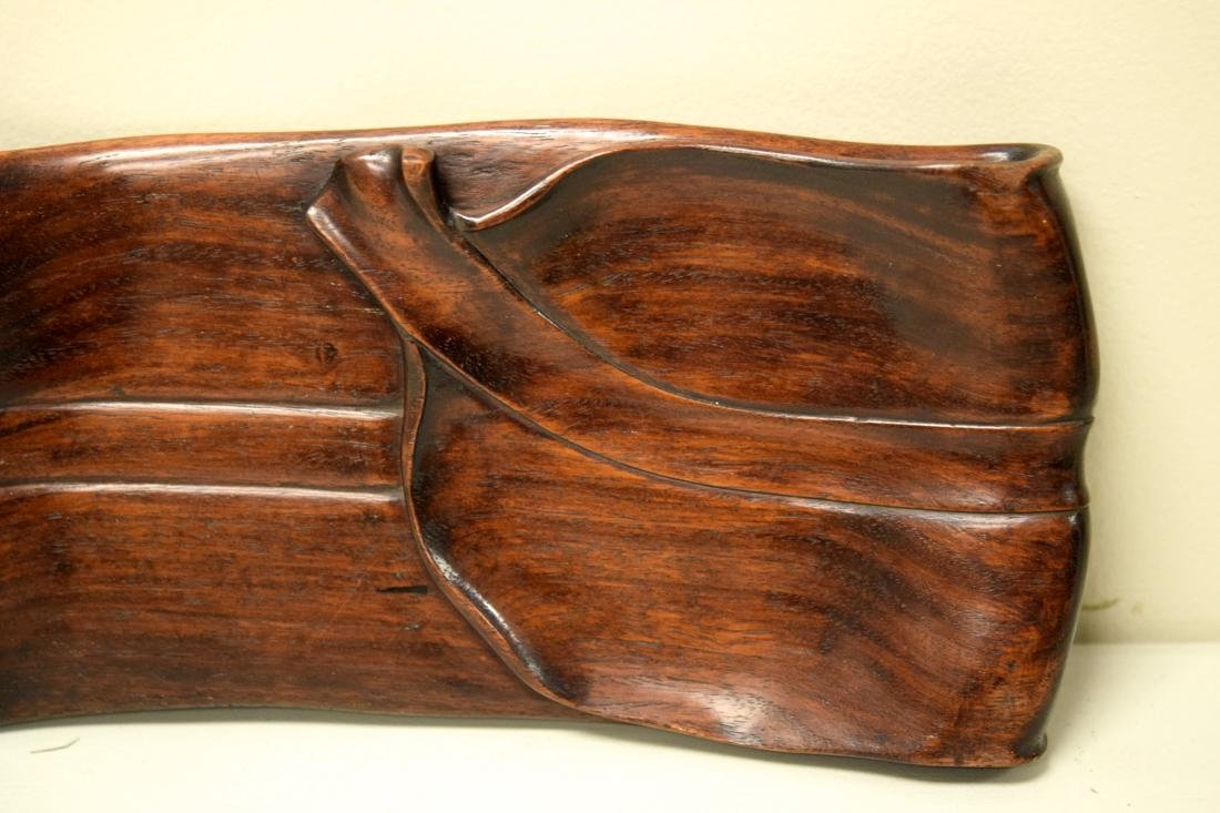 Chinese Rosewood Leaf Shaped Tea Tray - 5