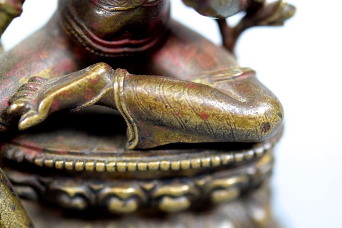 Tibetan Bronze Seated Tara - 10