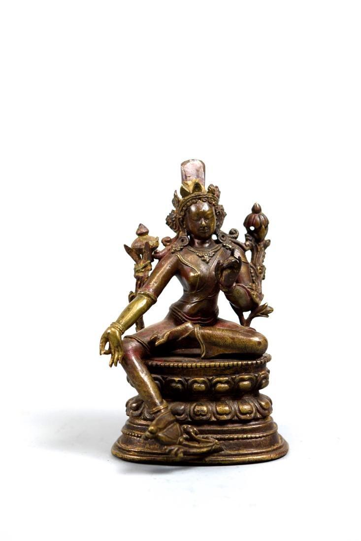 Tibetan Bronze Seated Tara